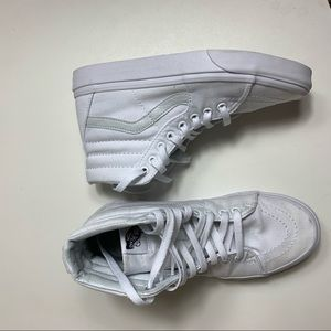Vans All White High Top Size 8 Women